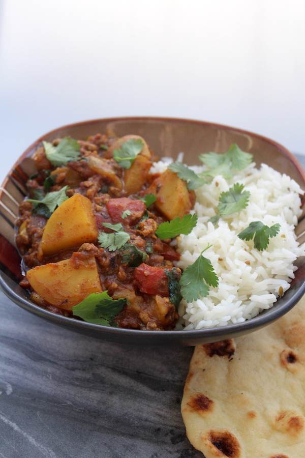 Keema Aloo Ground Lamb Curry with Potatoes