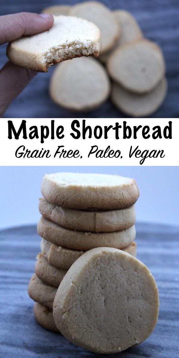 Grain Free Maple Shortbread Cookies ~ Paleo, Grain Free with vegan option