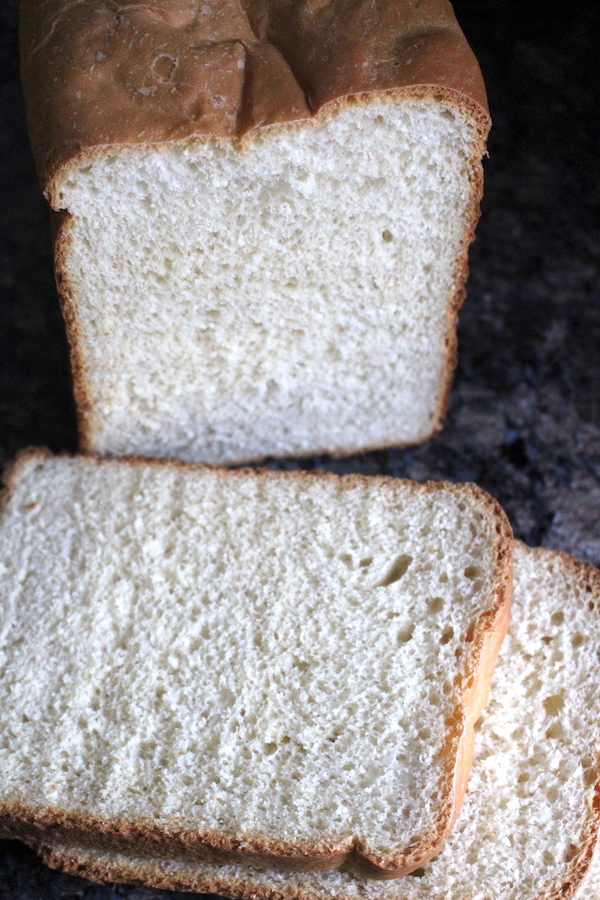 Easy Bread Machine White Bread ~ Simple homemade soft white sandwich bread from a bread machine