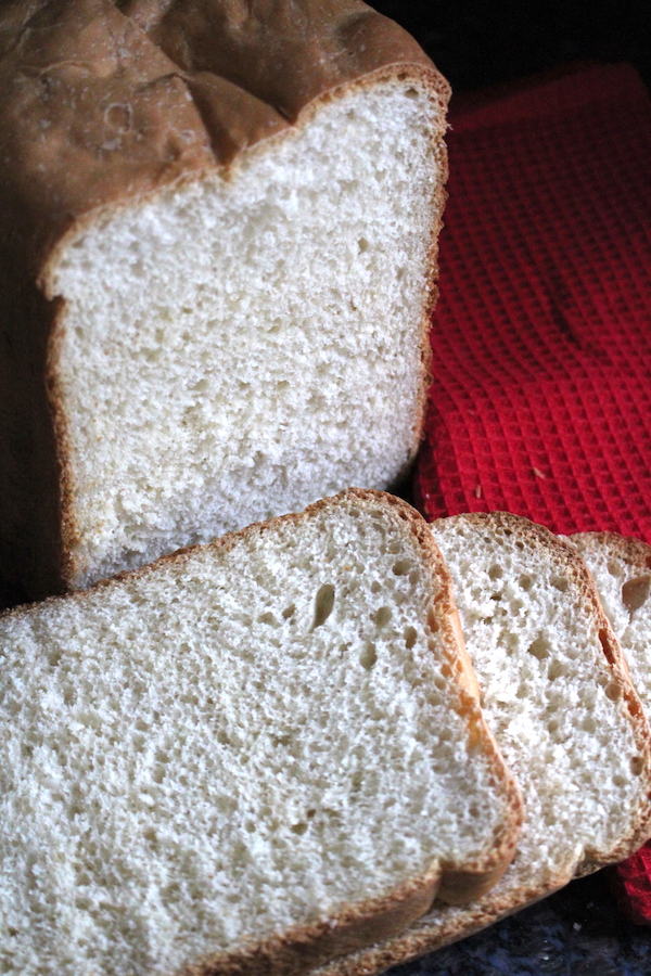Fresh Home Baked Bread Machine White Bread ~ Soft White Sandwich Bread
