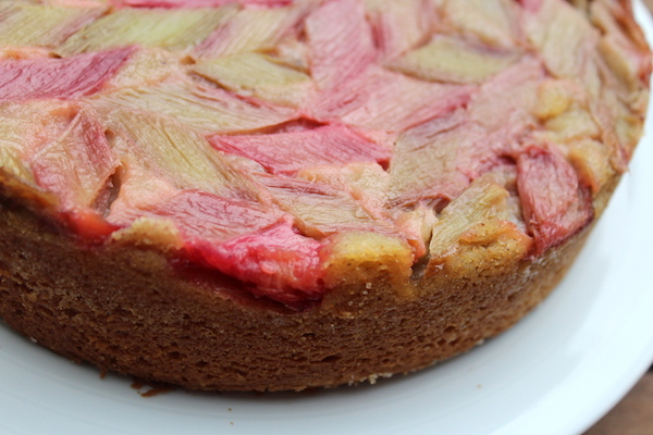 Full Rhubarb Upside Down Cake