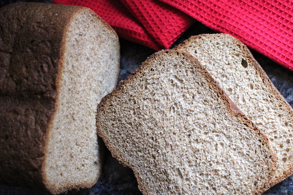 Whole Wheat Bread Machine Sandwich Bread