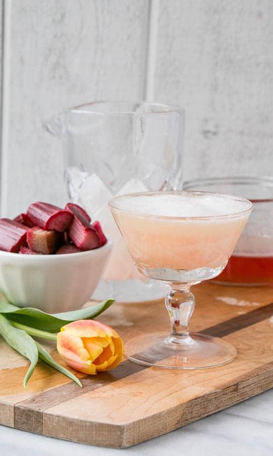 Rhubarb Pisco Sour - My Kitchen Love