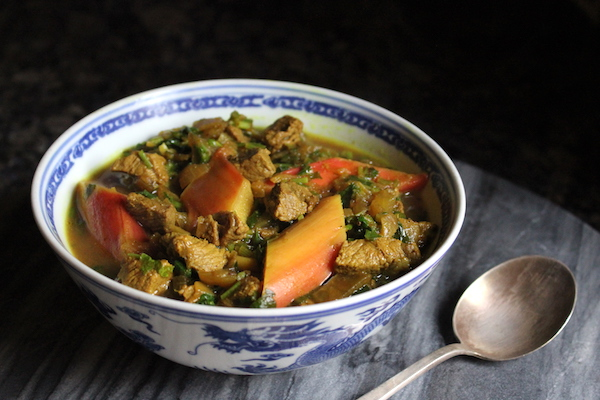 Persian Rhubarb Stew (Khoresht Rivas)