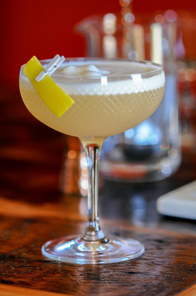 Rhubarb Sour ~ A Gin Cocktail