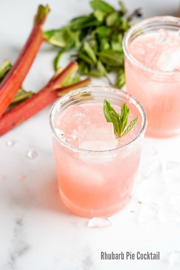 Rhubarb Pie Cocktail