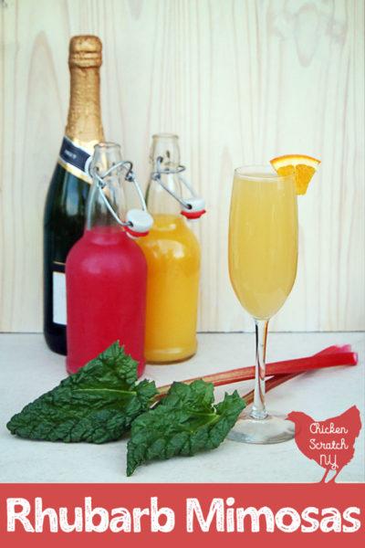 Bubbly Rhubarb Mimosas