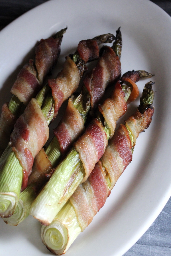 Bacon Wrapped Hosta Shoots