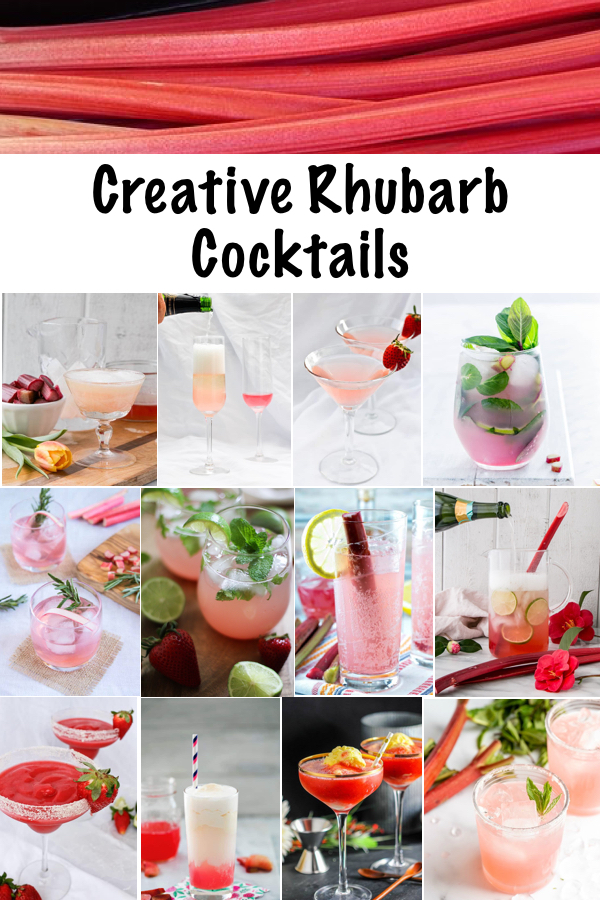 Creative Rhubarb Cocktails ~ Rhubarb has just the right mix of tart and fruity to make a spectacular mixed drink. All of these rhubarb drink recipes have their own unique flair, meaning you'll have a truly spectacular rhubarb cocktail for your special night in.
