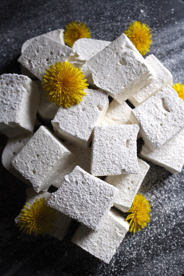 Dandelion and Honey Marshmallows