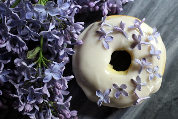 Lilac Donuts ~ Edible Flower Donuts with Lilacs