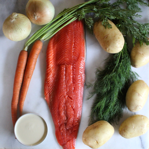 Finnish Salmon Soup Ingredients