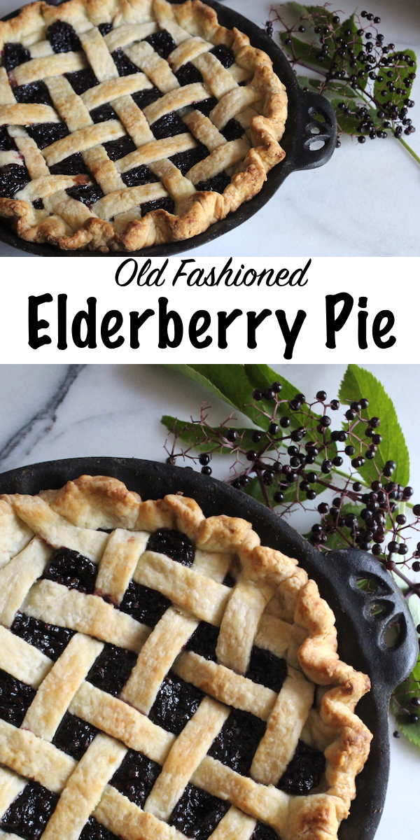 Old Fashioned Elderberry Pie ~ Looking for a creative elderberry recipe? This old fashioned elderberry pie is a delicious way to use elderberries, and it's a real crowd pleaser. #elderberry #herbs #herbalism #pie #nourishingtraditions
