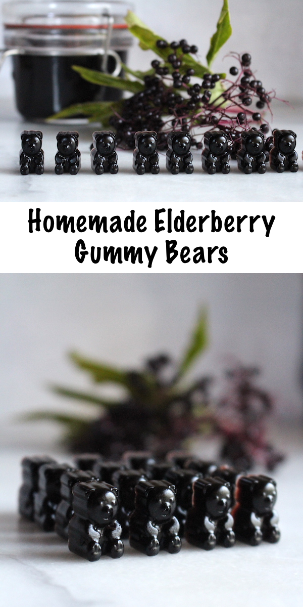 Elderberry Gummy Bears Recipe ~ Homemade elderberry gummies are easier than you think! With just a few ingredients, you can make your own immune boosting gummies in about 20 minutes. #herbs #herbalism #fluseason
