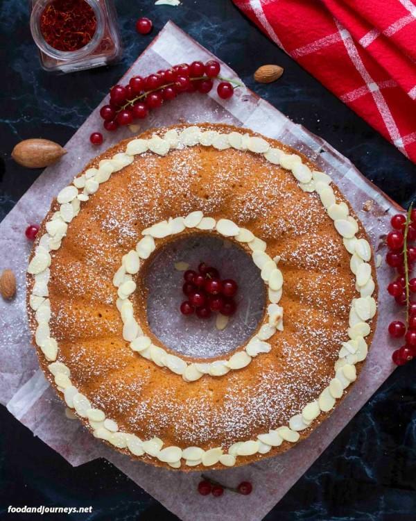 Swedish saffron cake
