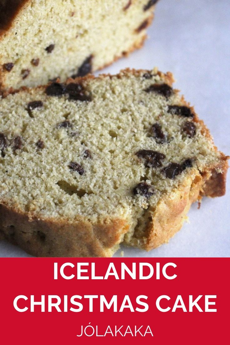 Icelandic Christmas Cake (Jólakaka) ~ This tender, buttery loaf cake is flavored with cardamom and studded with raisins. It's a traditional holiday cake in Iceland, but it's perfect any time of year as an easy to make coffee cake. #iceland #nordicfood