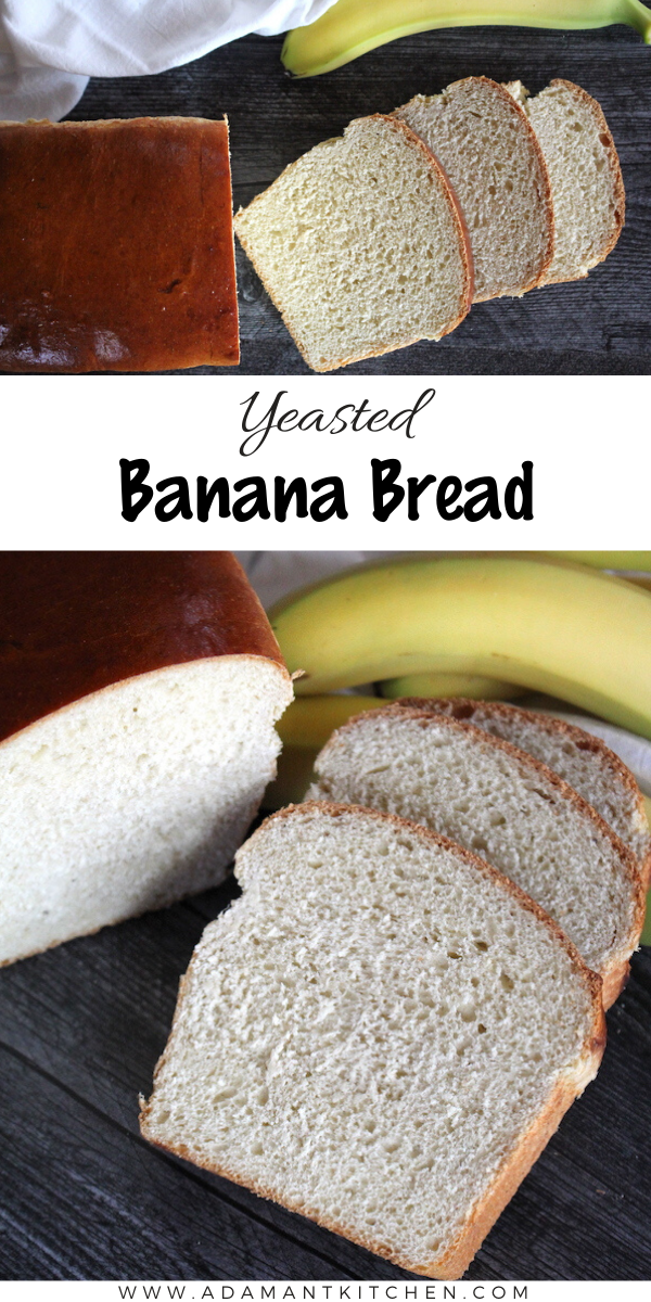 Yeasted Banana Bread ~ Looking for a way to use overripe bananas? Banana bread is often little more than banana cake, but this yeasted banana bread is perfect for sandwiches, toast and more!