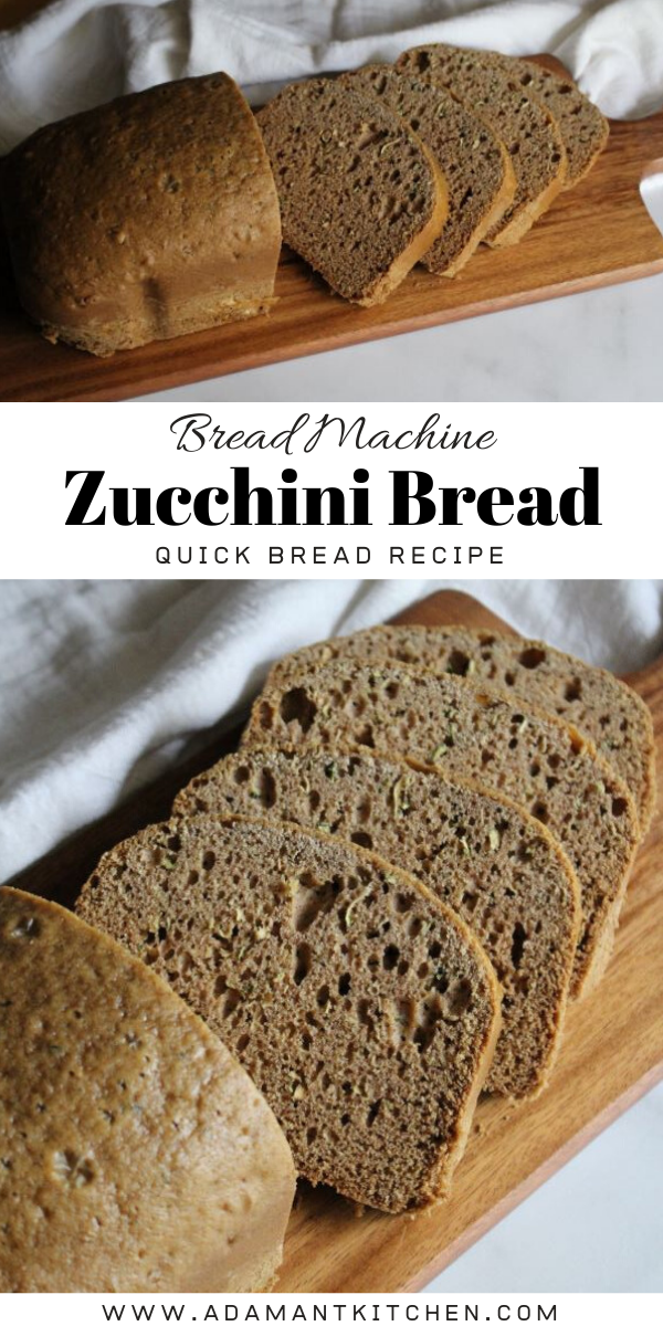 Bread Machine Zucchini Bread ~ Learn how to make zucchini bread in a bread machine.  This easy quick bread is the perfect bread machine recipe for testing out the quick bread cycle on your new bread machine.