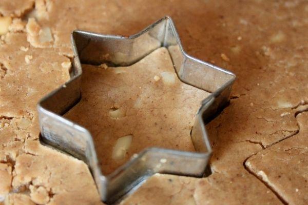 Danish Brunkage dough being cut